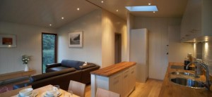 woodland lodges inside view