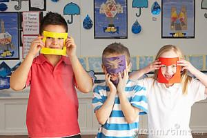 Happy Primary School Children